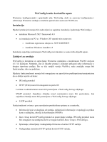 WeConfig kratke korisničke upute Instalacija Zahtjevi za uređaje