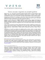 Verso osvojio nagradu za projekt godine