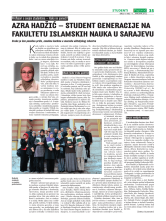 azra hadžić - Fakultet islamskih nauka u Sarajevu