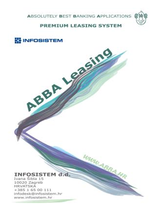 ABBA Premium Leasing Sustav