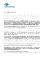 UPUTE ZA PACIJENTE - Zavod za hitnu medicinu SMŽ