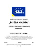 """""""BIJELA KNJIGA"""" - stranka za evropsko sarajevo"""