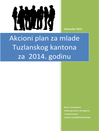 Akcioni plan za mlade Tuzlanskog kantona za 2014. godinu