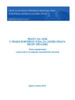 pravo na dom u praksi europskog suda za ljudska prava