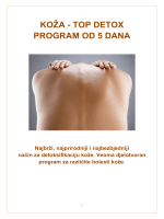 koža - top detox program od 5 dana - Institut za prirodnu medicinu