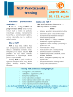NOVO: NLP praktičarski trening Zagreb 2014