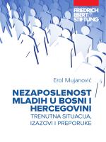 NezaposleNost mladih u BosNi i hercegoviNi