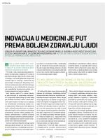 inovacija u medicini je put prema boljem zdravlju ljudi