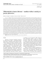 Mikotoksini u lancu ishrane – analiza rizika i značaj za javno zdravstvo
