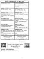Župni listić od 16.02. do 28.02.2015 Br.163 GODVIII/4