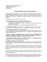 Program rada za 2015. godinu - Udruga antifašističkih boraca i