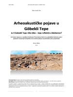Arheoakustičke pojave u Göbekli Tepe