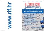RIF-ove OBAVIJESTI - Računovodstvo i financije