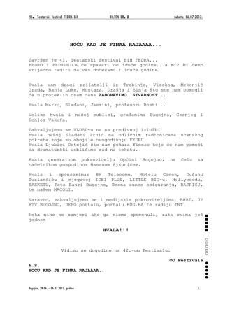 Bilten br.9 u pdf formatu. - KSC