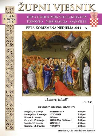 6. travnja, 2014. - Župa Hrvatskih Mučenika