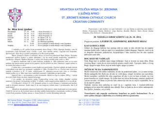 26 Listopad 2014 - St Jerome Croatian Catholic Church