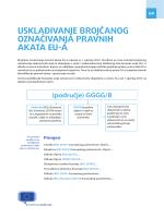 novoj metodi brojčanog označivanja - EUR-Lex
