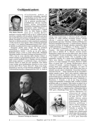 Cecilijanski pokret - Vrhbosanska nadbiskupija