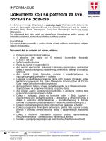 Dokumenti koji su potrebni za sve boravišne dozvole