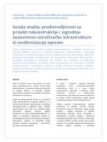 Izrada studije predizvodljivosti za projekt