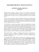 IZVJEŠĆE o radu Društva u 2013/14.