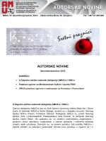 Autorske novine broj 18 30.12.2014. godine
