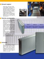 Pločasti radijator Tehničke karakteristike Ambalaža
