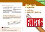 Najvažnije cˇinjenice - Arbeitsgemeinschaft Tabakprävention Schweiz