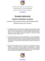 Havajska deklaracija - Udruženje/Udruga psihijatara u Bosni i