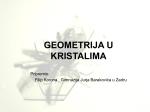 Filip Korona o kristalima - Gimnazija Jurja Barakovića Zadar