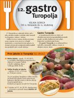 Letak 12. Gastro izložbe Turopolja