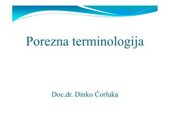 5 Porezna terminologija Dinko