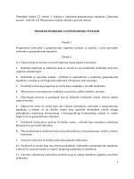 Nacrt Prijedloga Programa