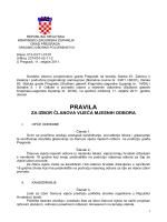 PRAVILA za izbor članova vijeća Mjesnih odbora