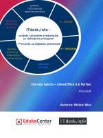 Obrada teksta - LibreOffice Writer - priručnik