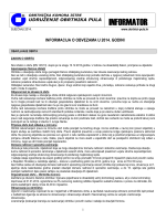 Informacija o obvezama u 2014. godini