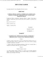zakon o izmjenama i dopunama zakona o odgoju i obrazovanju u