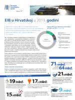 EIB u Hrvatskoj u 2013. godini