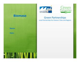 Biomasa - Green Partnerships