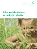 Informacijska brošura za roditelje i učenike