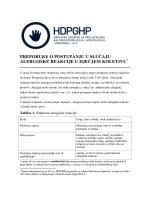preporuke o postupanju u slučaju alergijske reakcije u dječjem