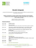 Program simpozija OBNOVA ZAŠTIĆENIH KULTURNIH