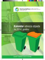 Kalendar odvoza otpada - Komunalno poduzeće Križevci