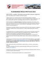 PLANINARSKA ŠKOLA HPD PLIVA 2015