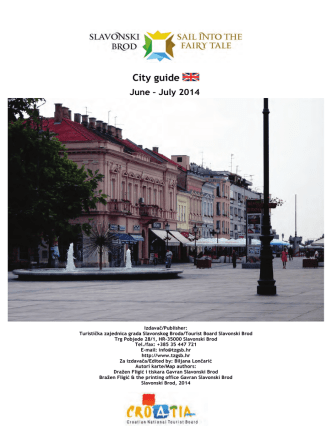 City guide - Turistička zajednica grada Slavonskog Broda