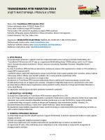 Uvjeti nastupanja i pravila utrke – TransDinara MTB 2014