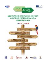 Međunarodni priručnik metoda grupnog profesionalnog usmjeravanja