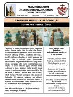 Tjedni listić br. 119 - samostan sv. ivana krstitelja zemun