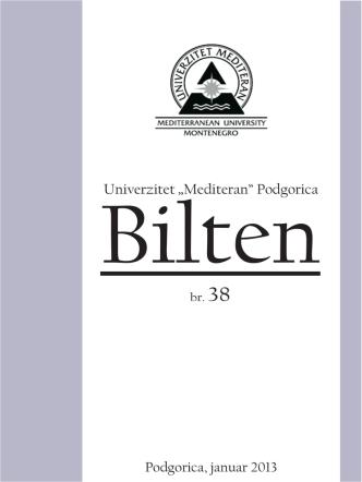 br.38 - Univerzitet `Mediteran`