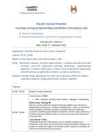 Detaljan program radionice - Split 17.10.2014